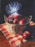 Basket of Apples  19x13 inch  Watercolor