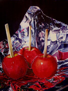 Candy Apples  16x12.5 inch  Watercolor