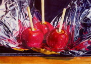 More Candy Apples  10x14 inch  Watercolor