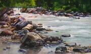 Rivers Edge  12.5x21 inch  Watercolor